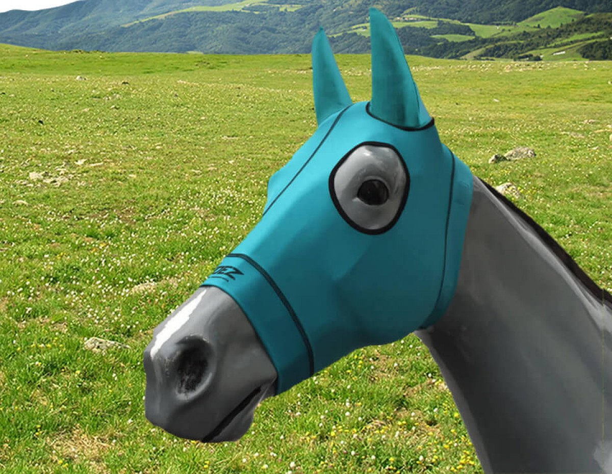Mask with Ears- TURQUOISE